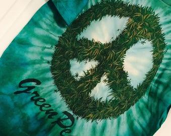 "Vintage ""Green Peace"" Tie Dye"