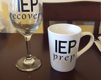 IEP Survival Mug/Wine Glass Set