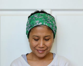 Wide Headbands For Women, Stretchy Headband, Green Headband, Yoga Headband, Haarband, Hippie Headband, Bohemian Headband, Boho Headwrap