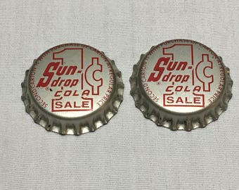 Sun-Drop Cola One Cent Sale Crown/Bottle Cap - Cork Composition - Unused
