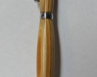 Reclaimed Heart Pine Pen in Chrome