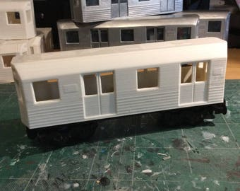 Unfinished Subway Shell for 24 stud Lego Train Bases