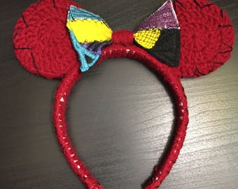 Sally from The Nightmare before Christmas inspired ears.