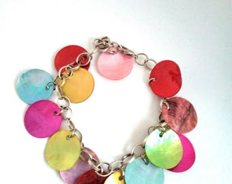 Adjustable chain bracelet with two sequins
