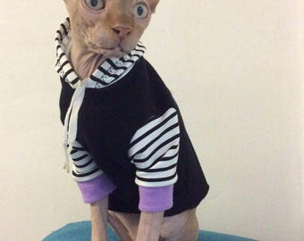 Sphynx cat clothes ,Sphynx Cat Hoodie, Gifts for Pets, Costumes for Pets, Cat Sweater, Cat T-shirt, Sphynx Shirt, Cat Clothes.
