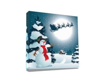 Christmas Gift Canvas Art, Wall Decor Canvas, Gallery Wrap Fine Art, Photography Canvas, wall art, Christmas 04 Wall Art