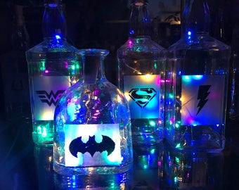 Super Hero Bottle Lamp Set