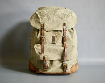 Vintage Swiss Army 1960 Backpack, Swiss Military Backpack, Swiss Army Rucksack, Swiss Military Rucksack, Switzerland, Mens Hipster Backpack