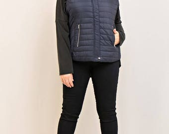 Solid Puffer Vest - Plus