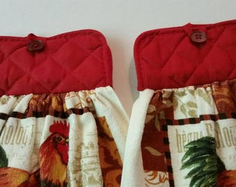 Kitchen 2 Towels with Pot Holder Toppers