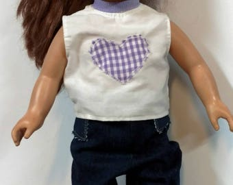 18 inches doll clothes,jeans fits american girl doll, handmade.