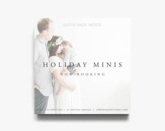 Holiday Mini Session Template, Mini Session Template Christmas, Christmas Mini Session Template, Winter Mini Session, Photography Sessions