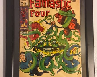 Original Fantastic Four # 88 Framed Silver Age Comic Book by Jack Kirby - Marvel Comics