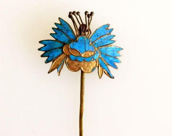 Kingfisher Feather Hairpin - Chinese Qing Dynasty - Tian-tsui
