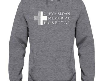 Grey sloan memorial hospital hoodie, grey's anatomy hoodie, greys anatomy gifts, grey anatomy, greys merch, grey t shirt, gsm