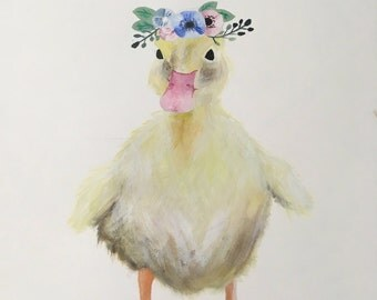 Unframed duckling art print