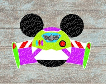 Buzz Lightyear Mouse Head SVG, DXF, JPEG, and Studio Downloads