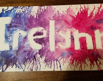 Custom melted crayon art