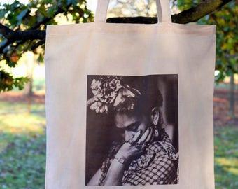 Frida Kahlo - printed cotton tote bag