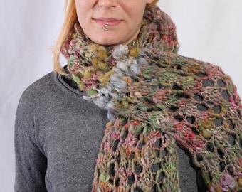 scarf made from hand spun art yarn