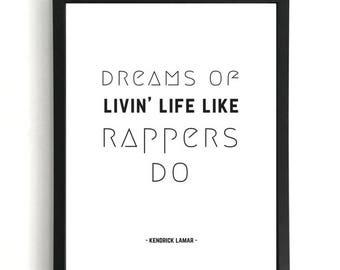 Money Trees - Kendrick Lamar Print