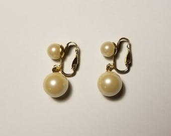 Classic Pearl Clip On Earrings