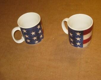 "Warren Kimble ""Colonial"" Mugs  set of 2   [6581bs]"