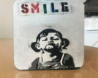 Banksy Coaster #52 - Banksy Gift - Banksy Coaster - Custom Coaster -Gift for Her - Gift For Him - Fridge Magnets - Banksy Magnet - Souvenir