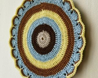 Crochet Pot Holder, Crochet Potholder, Hot Pad, Oven Mitt, Pot Stand, Coaster, Kitchen Cookware, Home Decor, Kitchen Decor, Rustic, Gift