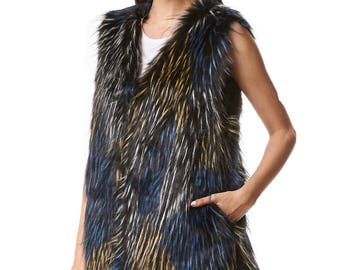 Faux Fur Sleeveless Fur VEST