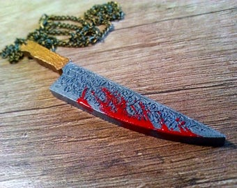 Miniature Cute Vorpal Blade Necklace from Alice Madness Returns