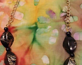 Necklace - Black/Gold