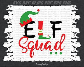 Elf squad svg, Elf svg, Elf hat svg, Christmas svg, Elves svg, SVG Dxf EPS Png Vector Art, Clipart, Cut Print File Cricut & Silhouette Decal