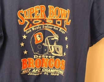 Vintage 1988 Denver Broncos Superbowl XXII Tee - M (fits like S)
