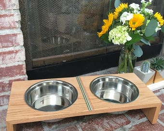 Handmade Large dog bowls and stand