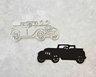 Vintage Car Metal Die, Scrapbooking and Cardmaking Die