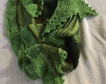 Wintergreen Hand Knitted Shawl