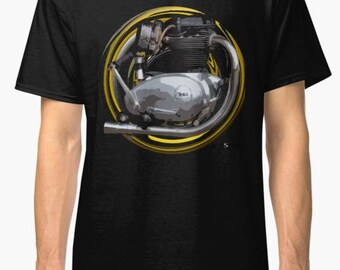 B.S.A. Lightning, Spitfire 650cc, A65 inspired Motorcycle engine TShirt INISHED
