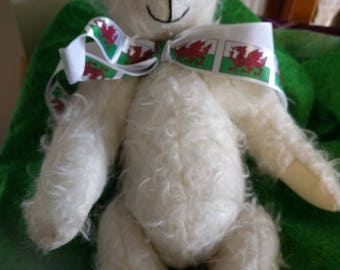 Handmade White Mohair Teddy Bear