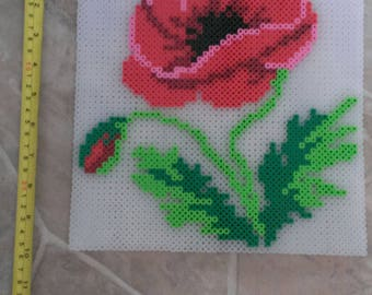 Poppy Flower Perler