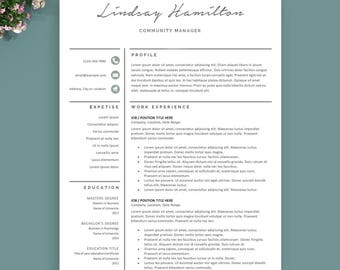Resume Template Instant Download, Professional resume template, teacher resume template, Modern resume template, CV template, professional