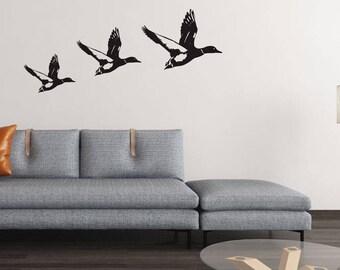 Three Ducks - Vinyl Wall Decals Stickers