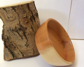 Hand-turned Yew Wood Bowl
