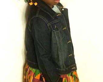 maxi skirt/toddler maxi skirt/kente skirt/african clothing/infant skirt/ankara maxi dress/ankara skirt