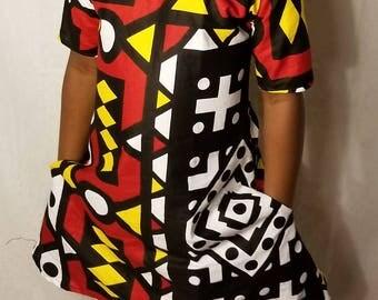 kente ankara dress/dress/Ankara dress/African babygirl clothes/baby gift/Newborn clothes/African clothing/dashiki/babygirl/birthday