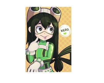 Kero! A4 Print 300gsm Froppy Tsuyu Asui Fan Art My Hero Academia Boku No Hero Anime Japan