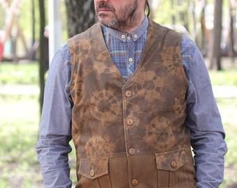 Old'n'Gold 02 men's suede waistcoat