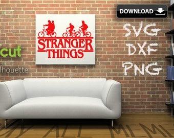 "Stranger Things Dxf ""Kids On Bikes"" | Svg Png | Make A T-shirt | Wall Art | Card | Pillow | Mug | Etc"