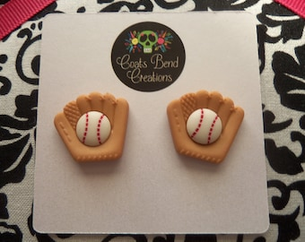 Baseball & Glove Stud Earrings~Sports~Baseball Mom~Stocking Stuffers~Party Favors~Womens Earrings~Girls Earrings