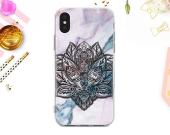 iPhone X Case Rose Marble iPhone 7 Plus Case Personalized iPhone 8 Plus iPhone SE Case Custom Samsung Galaxy S7 Edge Samsung S8 Pink BD1011